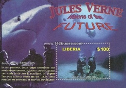 liberia deep sea divers minisheet