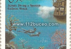 tk scouts diving spanish galleon